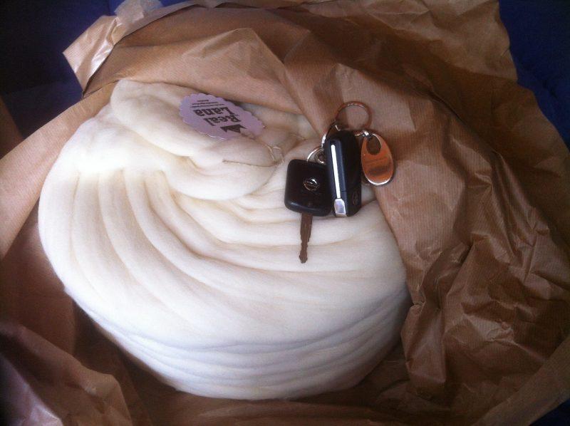Manta de lana XXL blanca